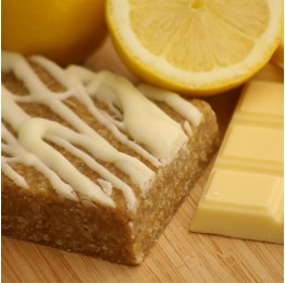 Lemon and White Chocolate Flapjack