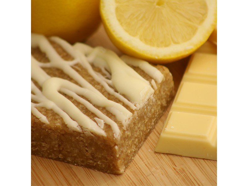 Lemon and White Chocolate Flapjack